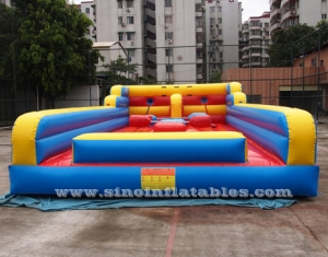 3 in 1 kids N adults inflatable bungee run N joust arena