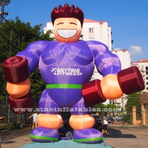 giant anytime fitness inflatable muscle man