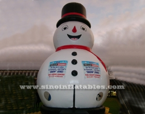 9 mts high commercial grade giant snowman inflatable bouncy castle