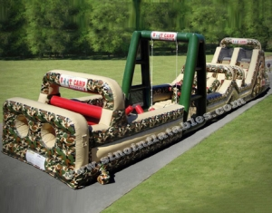 outdoor adults boot camp inflatable obstacle course