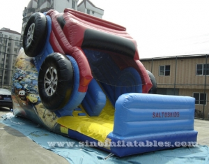 big wheel kids inflatable car slide