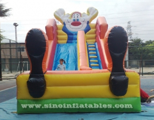 kids inflatable clown slide