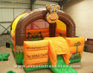 Monkey inflatable combo bouncer
