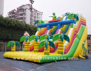 double lane dragon inflatable forest slide