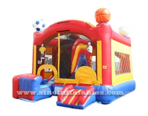 sport theme commercial inflatable jumping castle