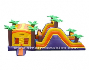 Outdoor palm trees theme big inflatable combo game