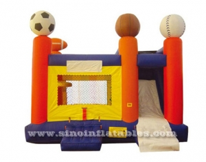 Rugby theme inflatable jump house