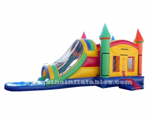 Kids outdoor rocket combo bounce house