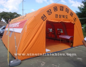 disaster relief air sealed inflatable tent