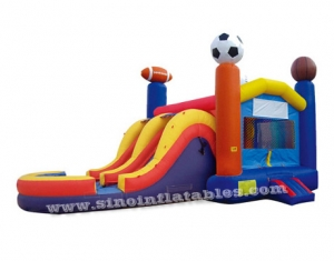 Commercial super sports inflatable combo bouncer