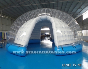 hemisphere advertising LED inflatable bubble tent