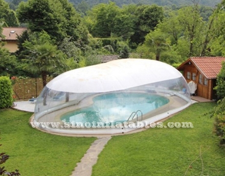 transparent inflatable pool dome