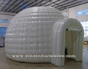 small white inflatable igloo tent