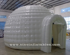 white small inflatable igloo tent