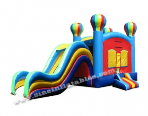 5in1 kids outdoor balloon inflatable combo bouncer with slide