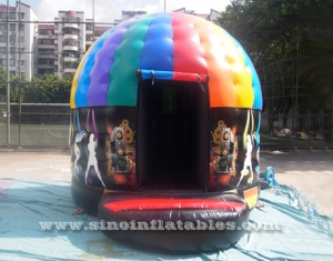 inflatable music disco dome bouncy castle
