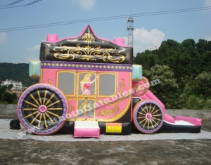 inflatable princess carriage bounce house