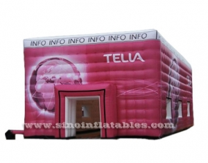 big red inflatable cube tent