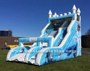 frozen inflatable slide with entrance arch