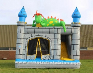 kids dinosaur combo bouncy castle