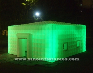 outdoor giant led light inflatable cube tent