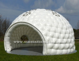 10 meters Dia. white big inflatable golf tent