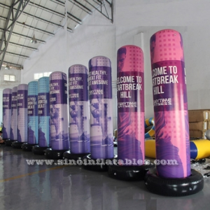 3 mts high custom design airtight advertising inflatable column