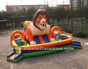 super lion inflatable playground