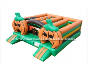 pumpkin inflatable amusement park