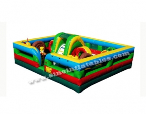 kids sqaure outdoor garden inflatable toddler game playground