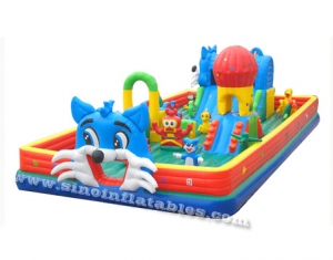 Happy cat toddler inflatable fun land