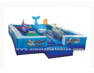 Sea world indoor kid inflatable amusement park