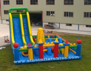 outdoor toddler N kids inflatable playground with big slide