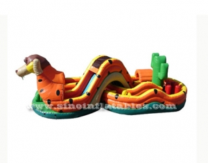 big dog obstacle inflatable playground