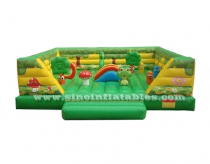 kids outdoor tropical inflatable amusement park