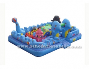 colorful blue sea world inflatable toddler game