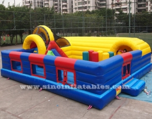giant climbing inflatable fun city