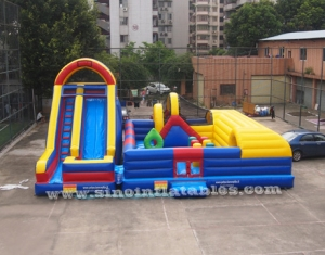 Outdoor kid giant inflatable amusement park