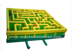 15x15 mts large inflatable maze park