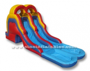 double lane kids inflatable water slide