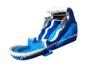 dolphin inflatable water slide clearance