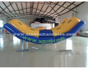4 persons inflatable seesaw water toys for kids and adults