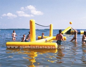 adults inflatable water volleyball court