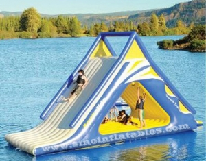 Water game use outdoor giant kids N adults inflatable floating slide