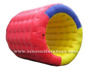 Big cylinder inflatable water roller sport game