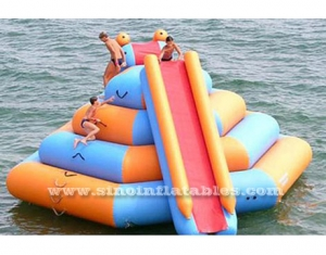 Double lane slide inflatable water tower sport game