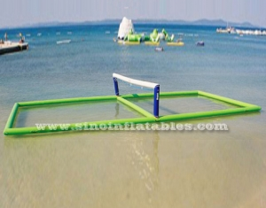giant floating inflatable water volleyball court
