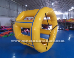 Heat welded walk on water inflatable water roller