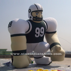 outdoor giant advertising inflatable NFL player