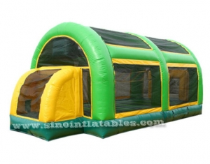 blow up kids inflatable basketball court with roof